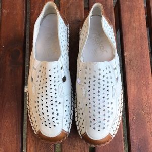 Reiker White Comfort Loafers Size 10